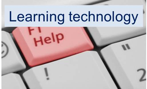 link to the learning technology support page