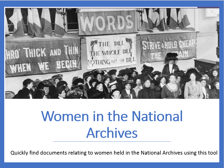Women in the National Archives database image