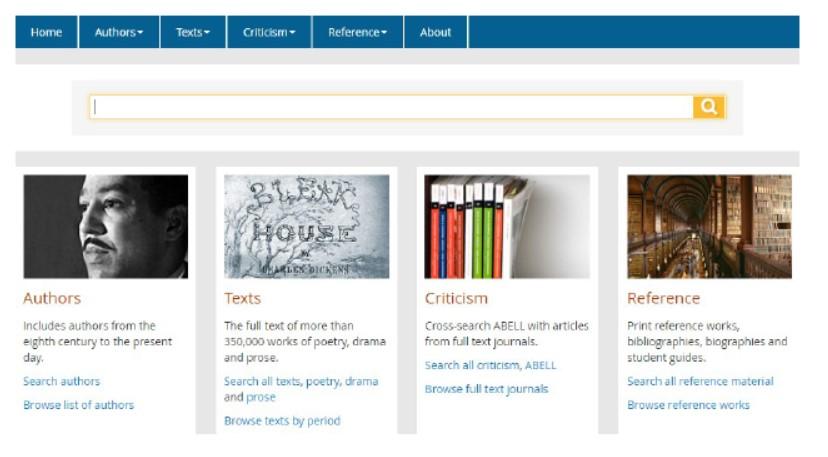 Literature Online homepage
