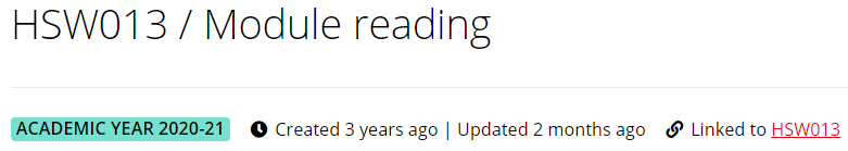 Reading list title with year tag