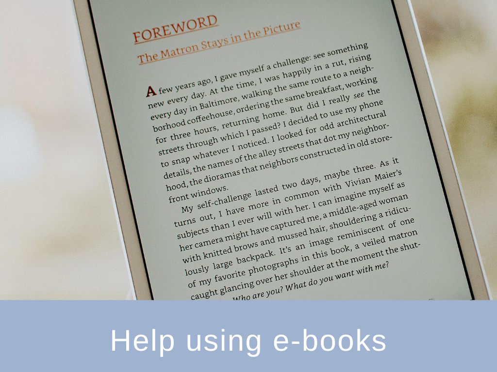 Help using ebooks
