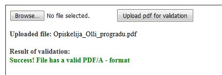 PDF/A validointi