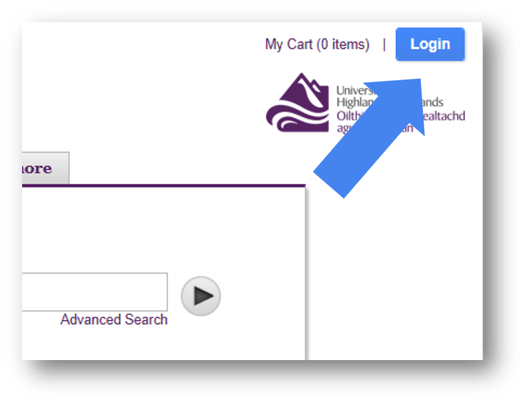Multisearch login button