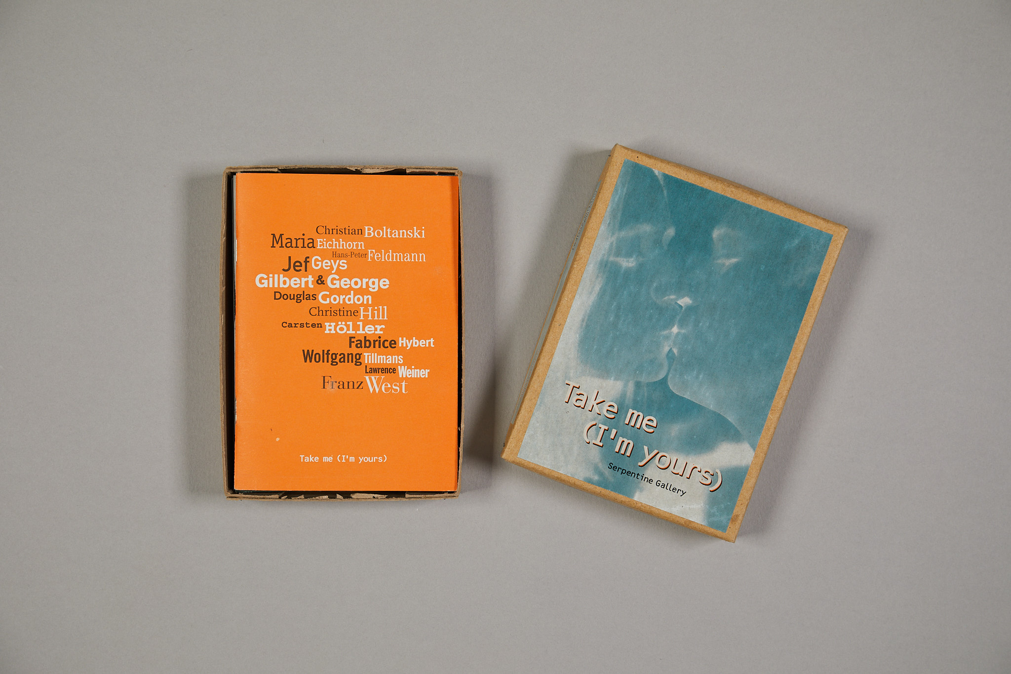 Take me (I'm yours), curated by Hans Ulrich Obrist, organised by Andrea Schlieker (1995)