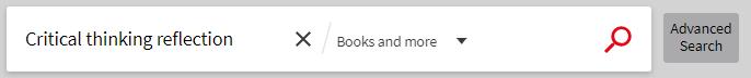 screenshot of catalogue search box