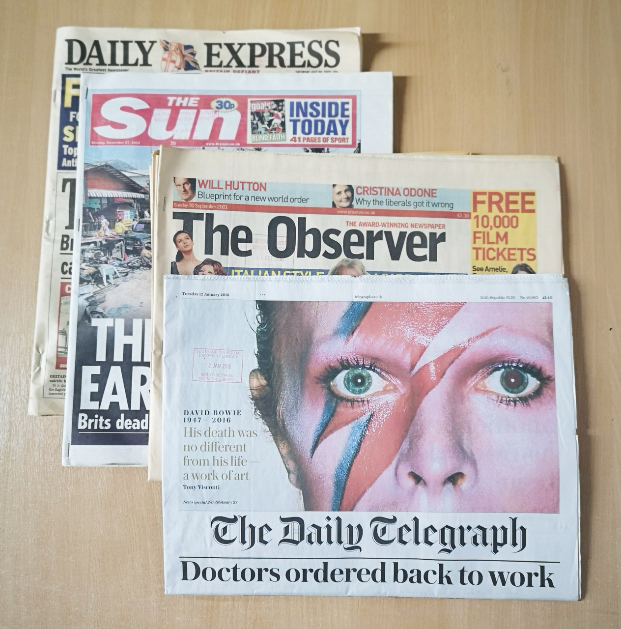 Examples of Special Events newspapers