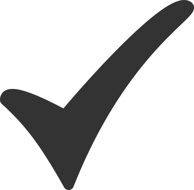 large tick icon