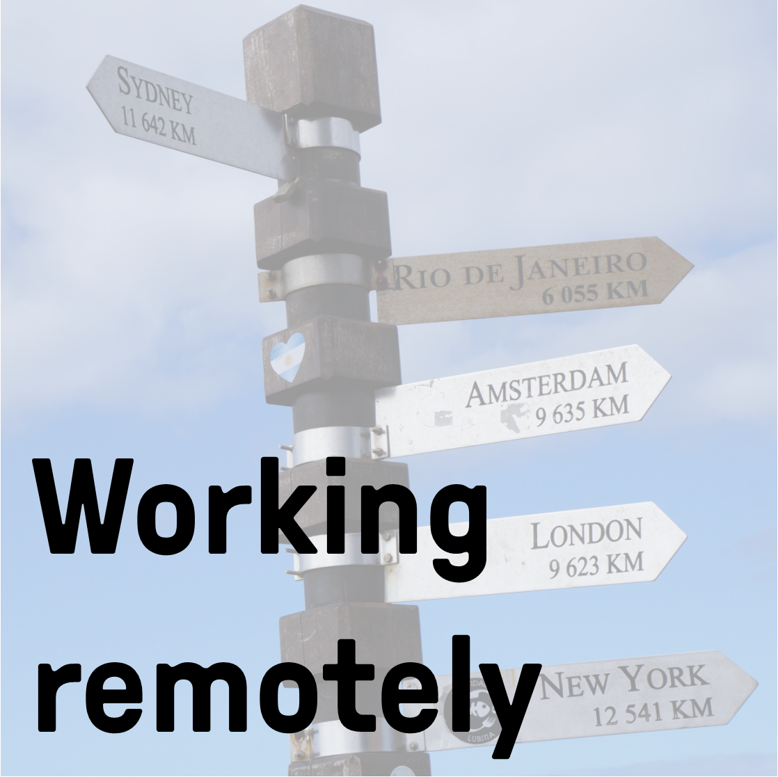 Working remotely image