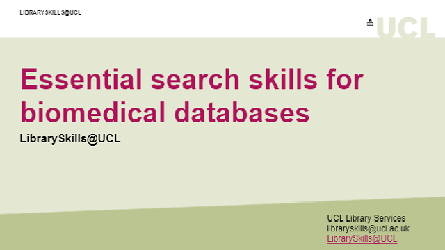 Essential search skills for biomedical datbases