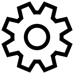 Gear-shaped settings icon