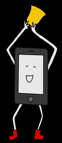 cartoon phone playing a bell