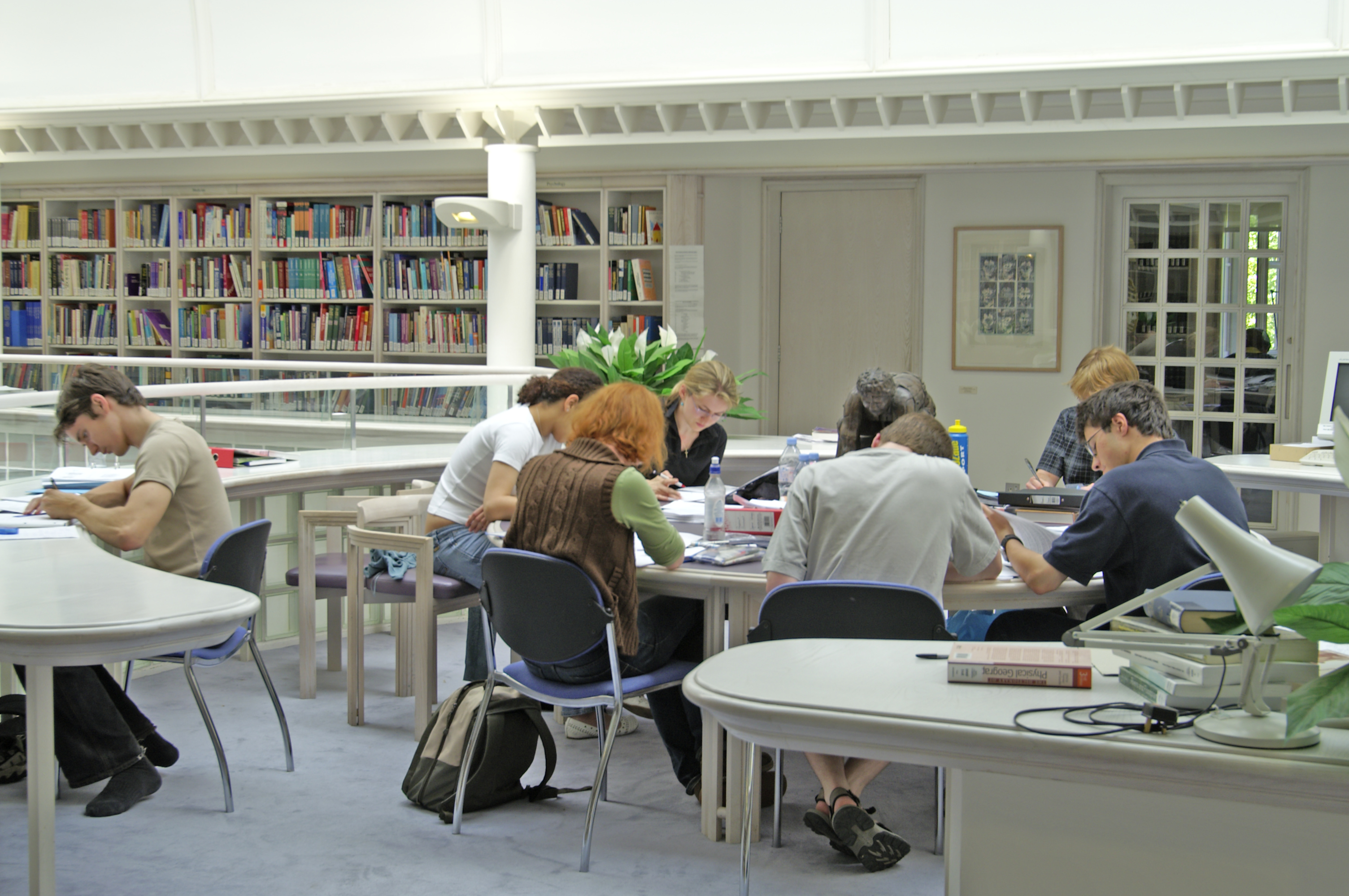 Students studying in Jesus College library: courtesy of Jesus College