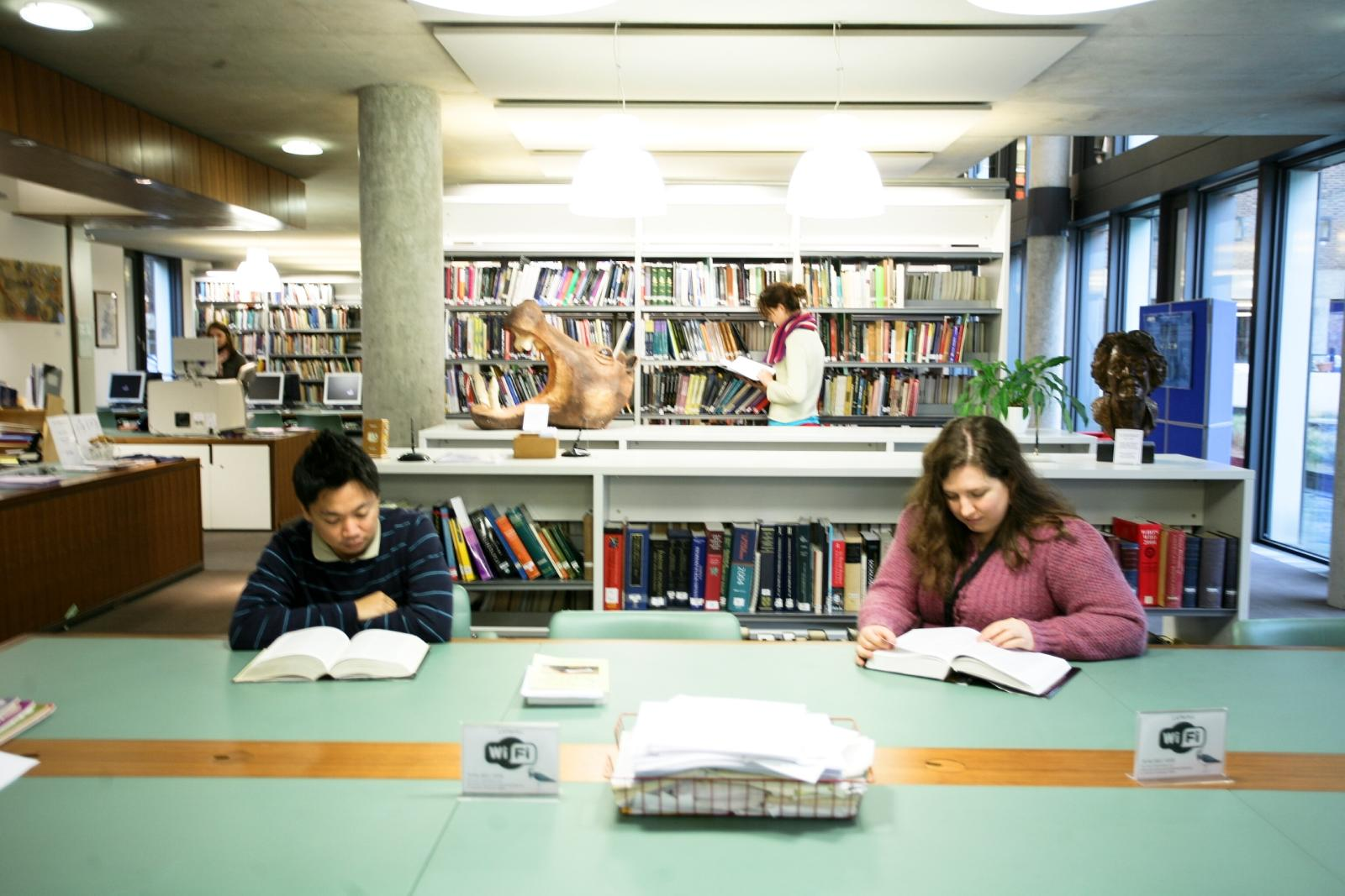 Students in the Criminology Library