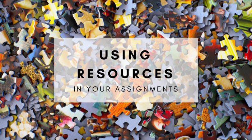 using resources in your assignment