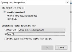 schteenshot: save moodle-export file