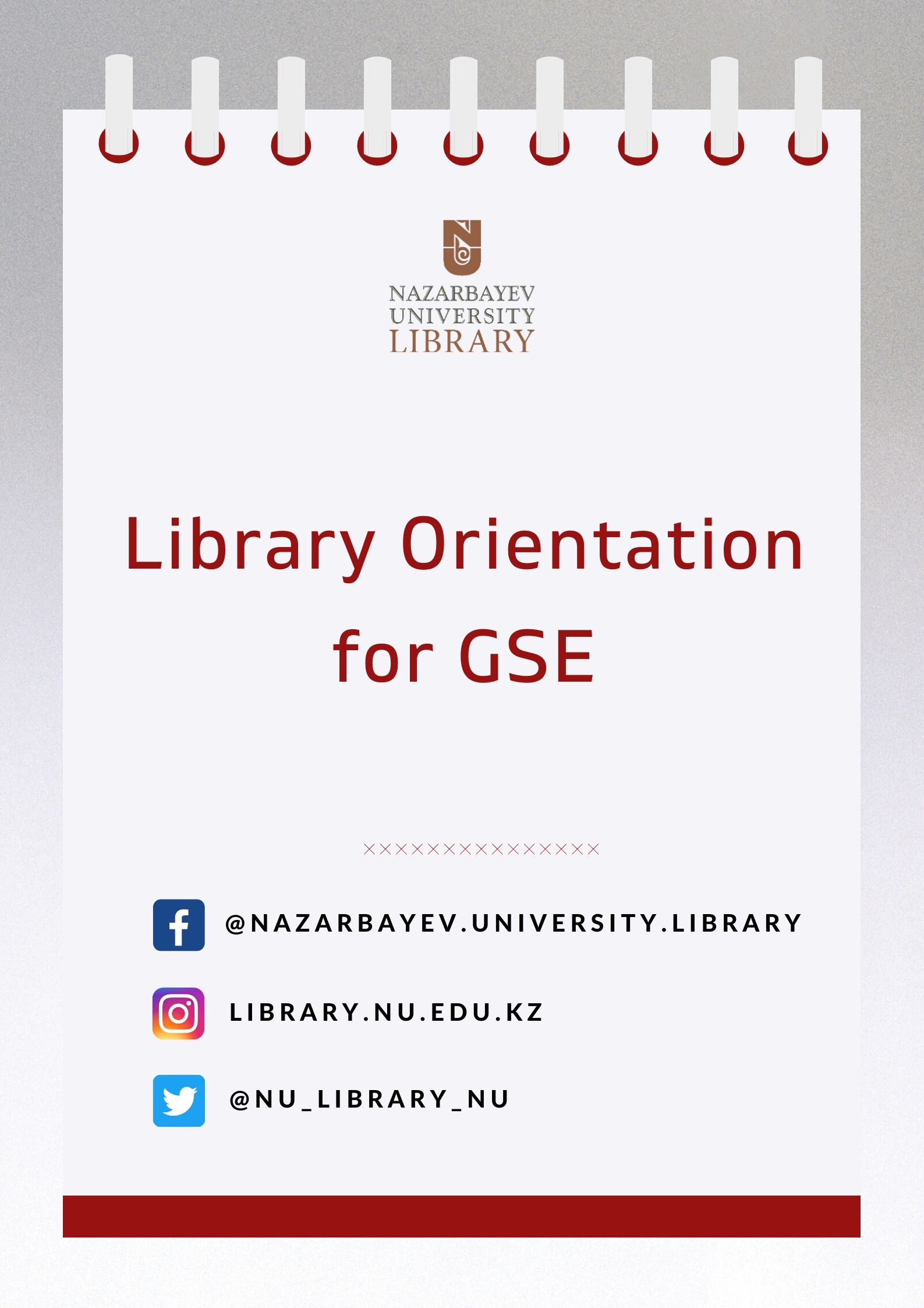 [GSE] Academic Orientation: Library Services, Programs and Resources & Searching for Information