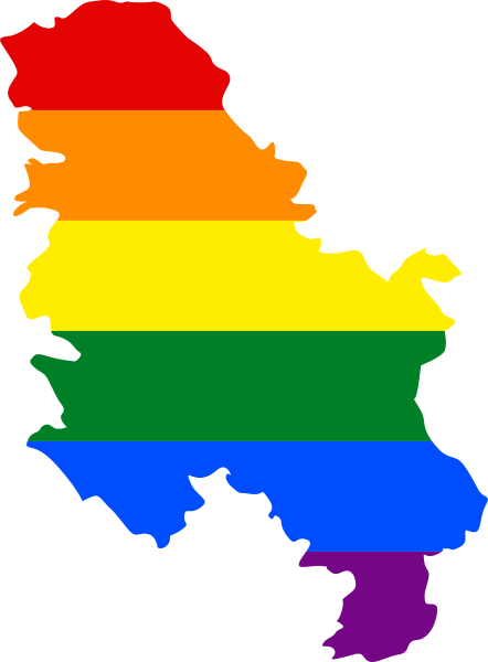 LGBT map of Serbia