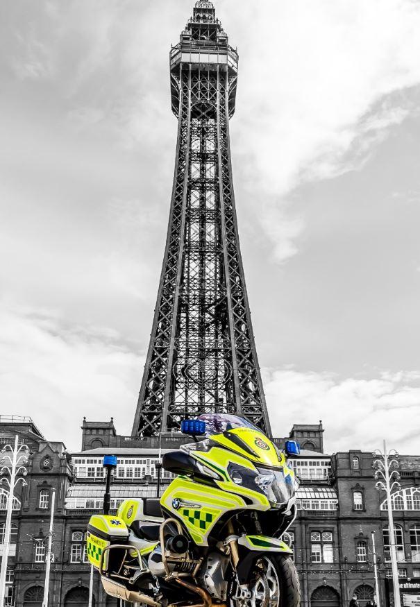 Ambulance at Blackpool Tower