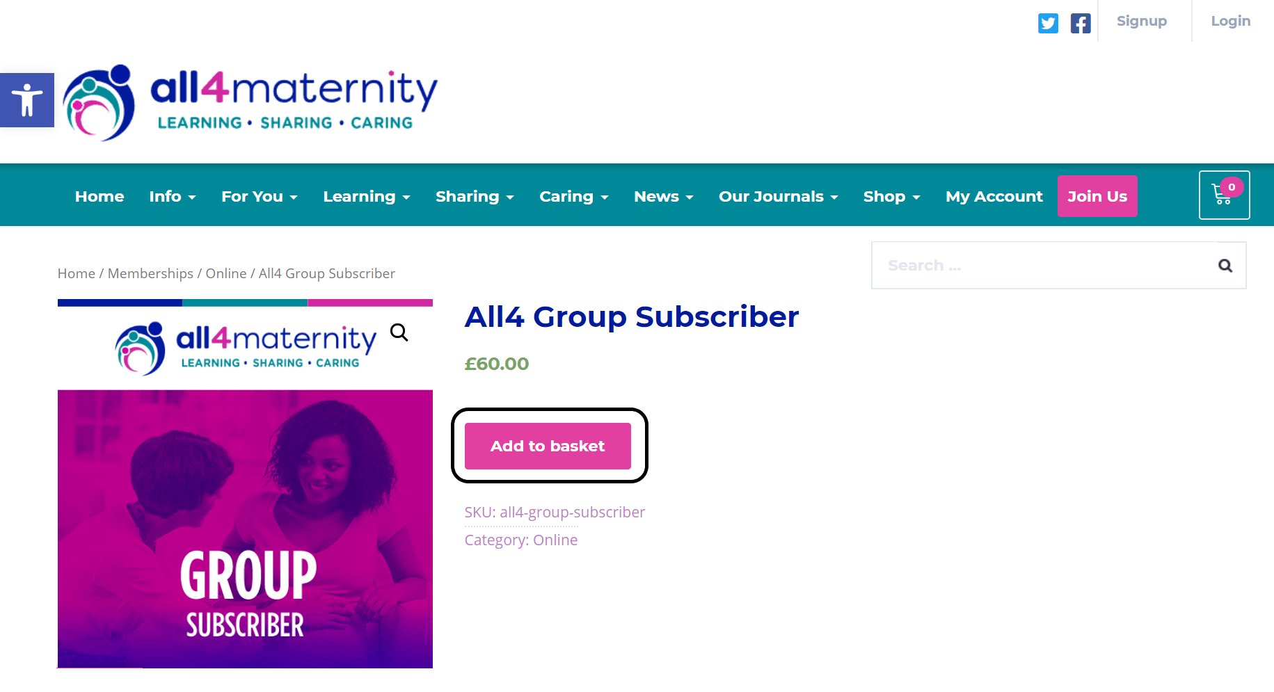 Add all4 group subscriber option to basket