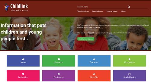 Childlink homepage