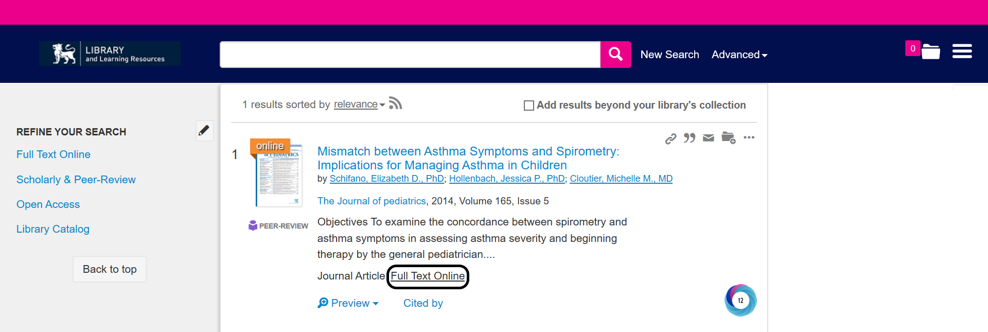Full text online link for Summon search result from ScienceDirect