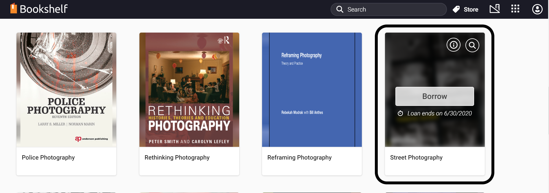 Borrow an eBook to add it to your personal bookshelf