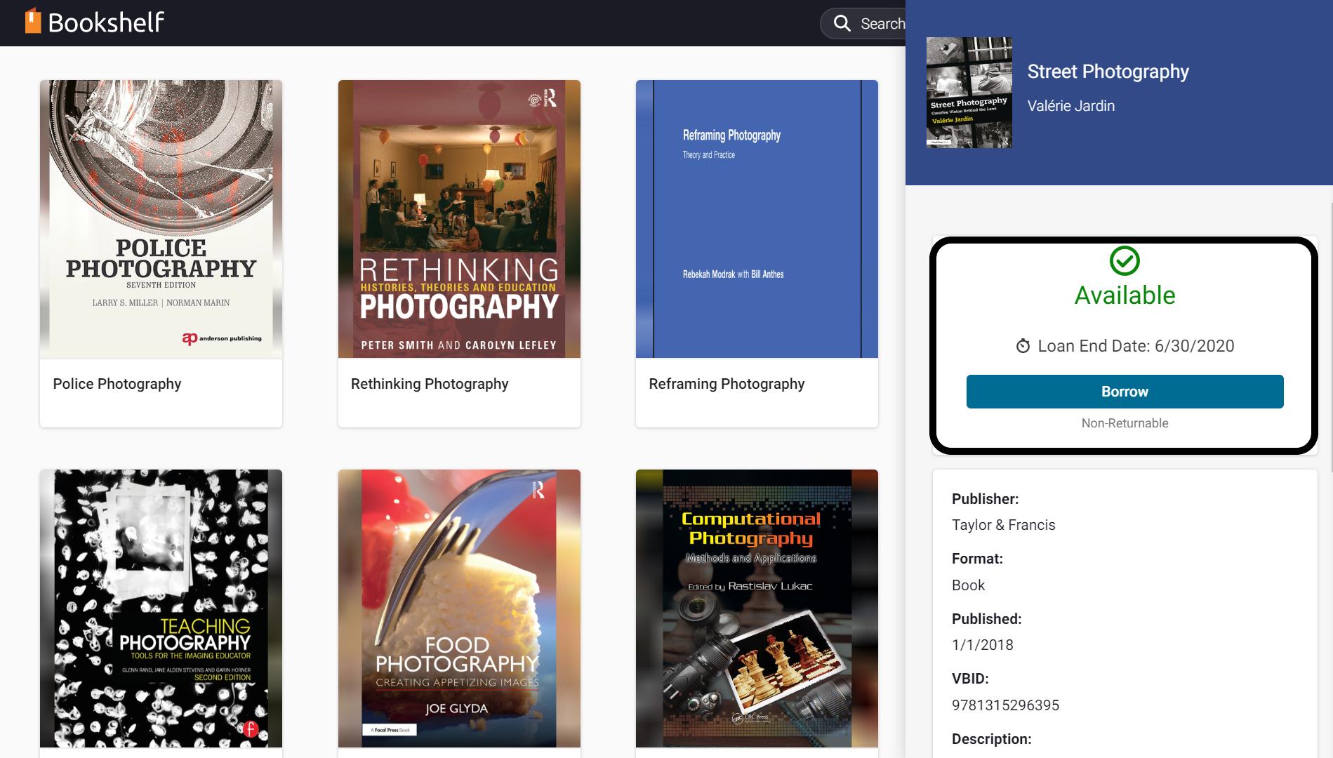 Borrow an eBook to add it your personal bookshelf
