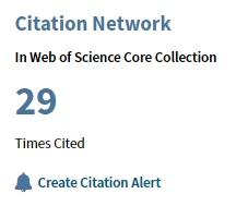 Artikel citeringsantal i Web of science