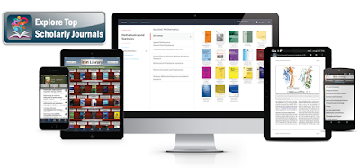 BrowZine platform displayed on different devices