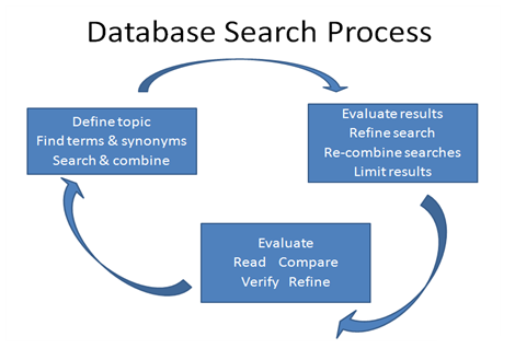 Database search process flow chart