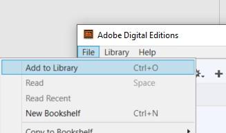 Adobe digital editions-ohjelma