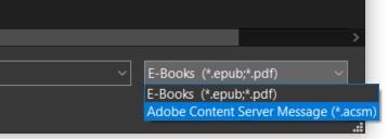 Valitse Adobe Content Server Message (*acsm)