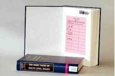 Library book with pink 7 day loan ticket