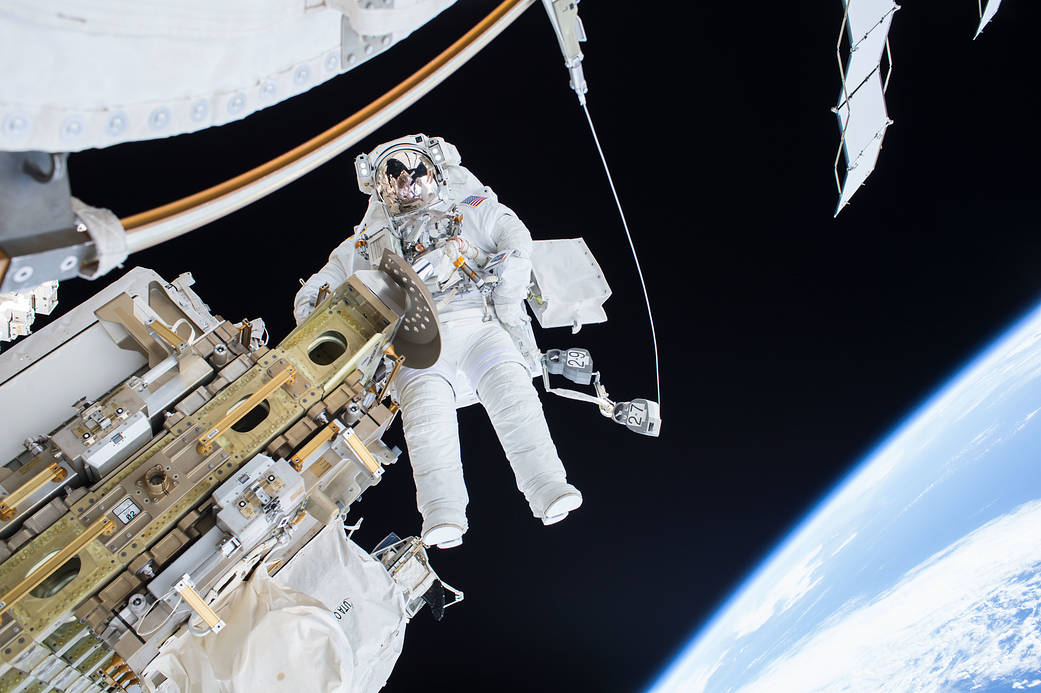 Nasa Astronaut Tim Kopra on Dec. 21 2015 Spacewalk