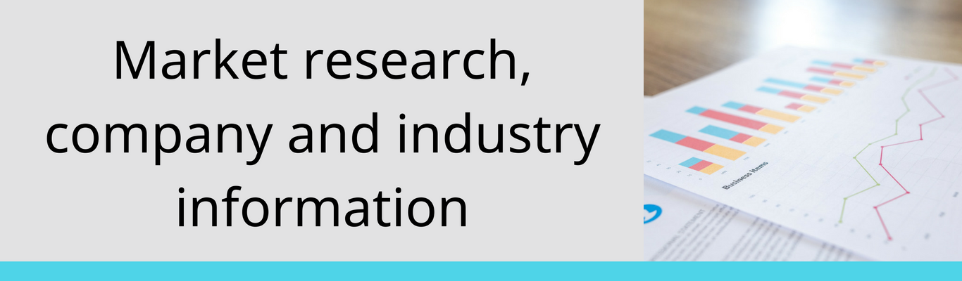 market research, company and industry information