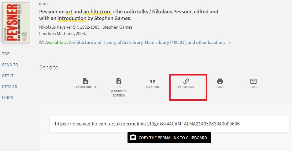 screenshot of iDiscover