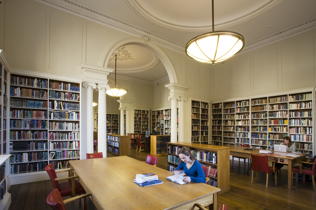Reading room in Christ Church Library