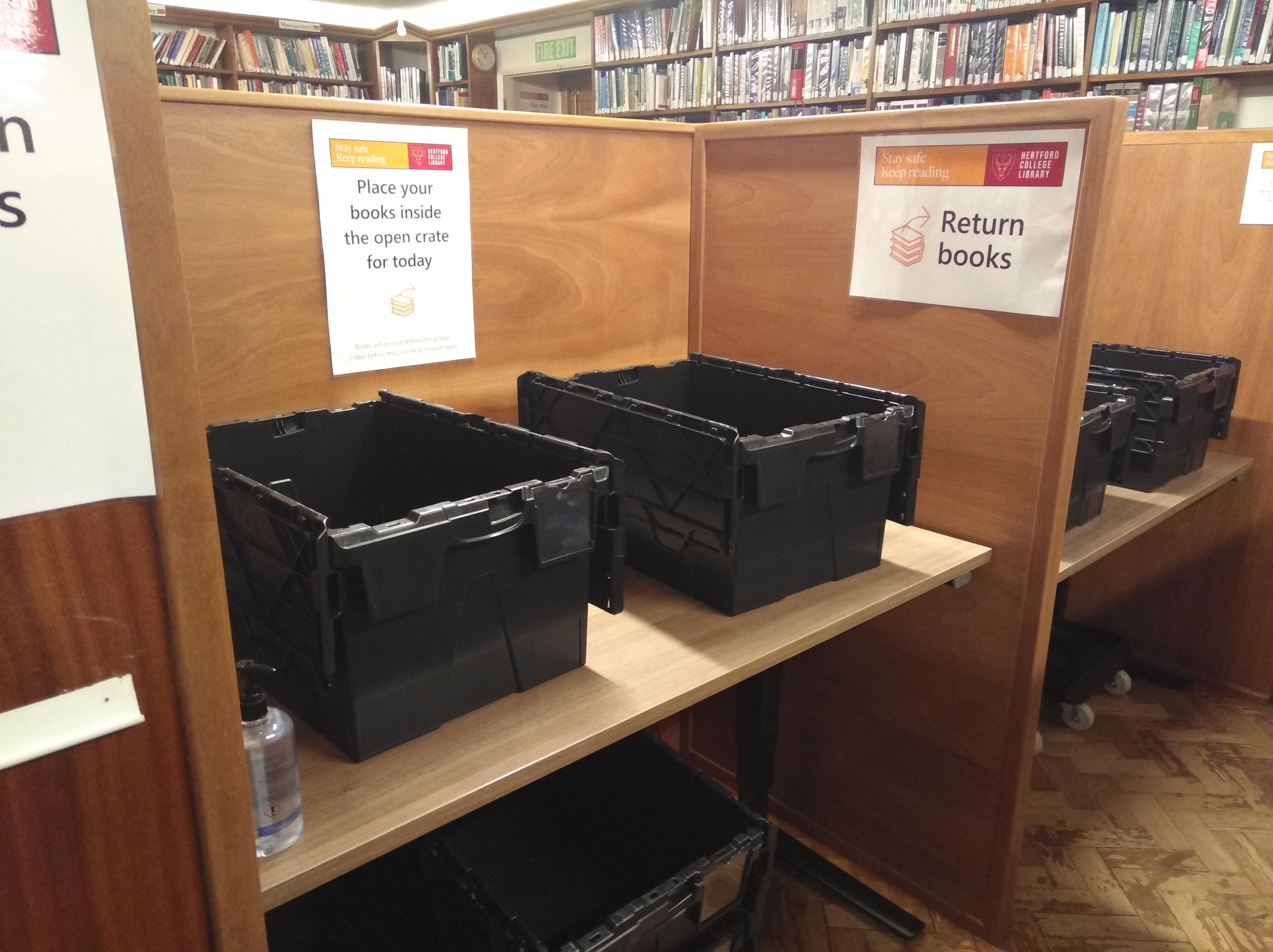 Open boxes in ground floor reading room