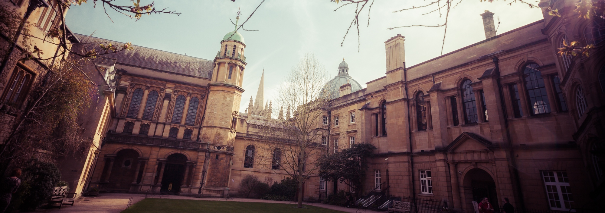 Hertford College Old Buildings Quad with Library in centre
