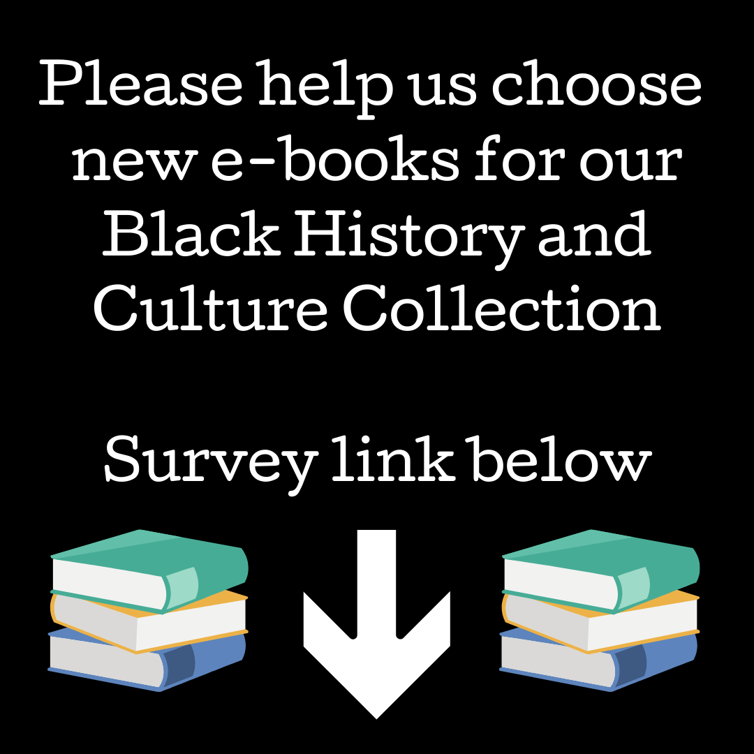 Help us choose new Black History and Culture e-books