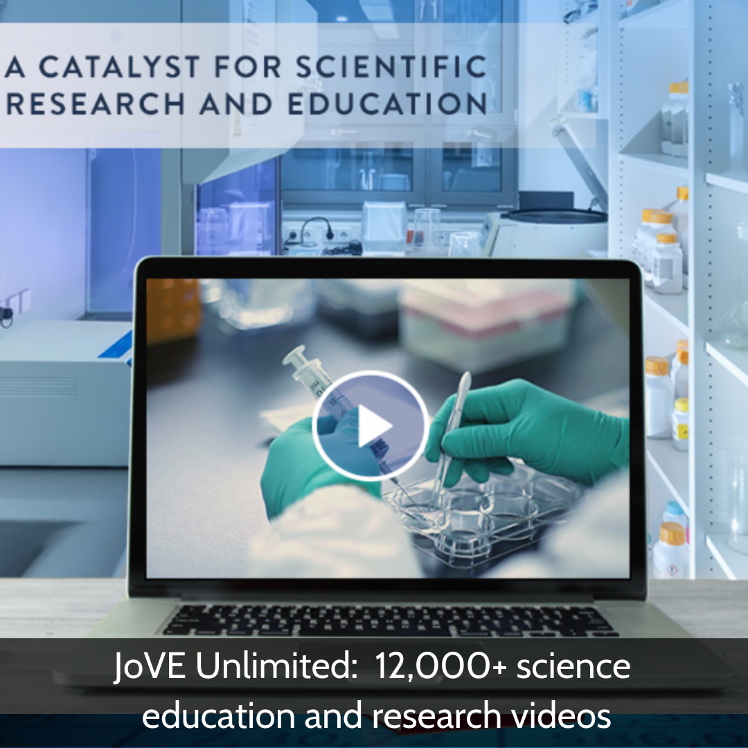 JoVE Unlimited: 12,000+ science education and research videos