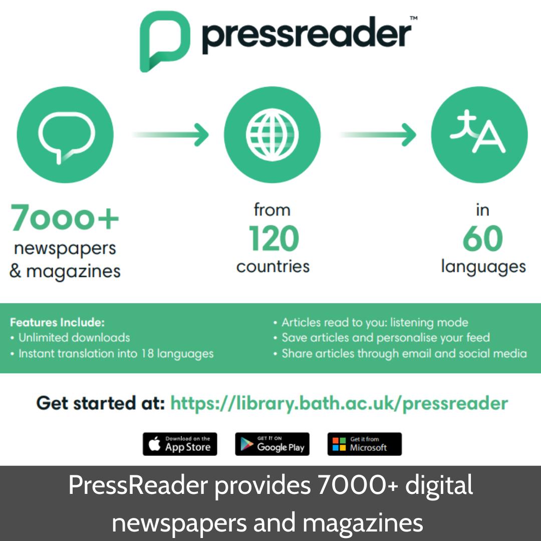 PressReader provides 7000+ digital newspapers and magazines