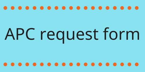 apc request form