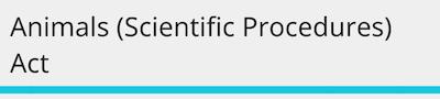 Animal scientific procedures act