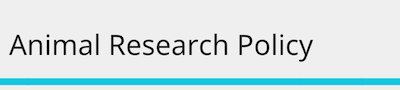 Animal research policy statement