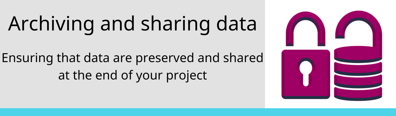 Sharing and Archiving Data
