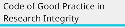 code of good practice in research integrity