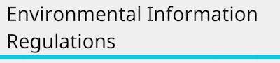 Environmental information regulations