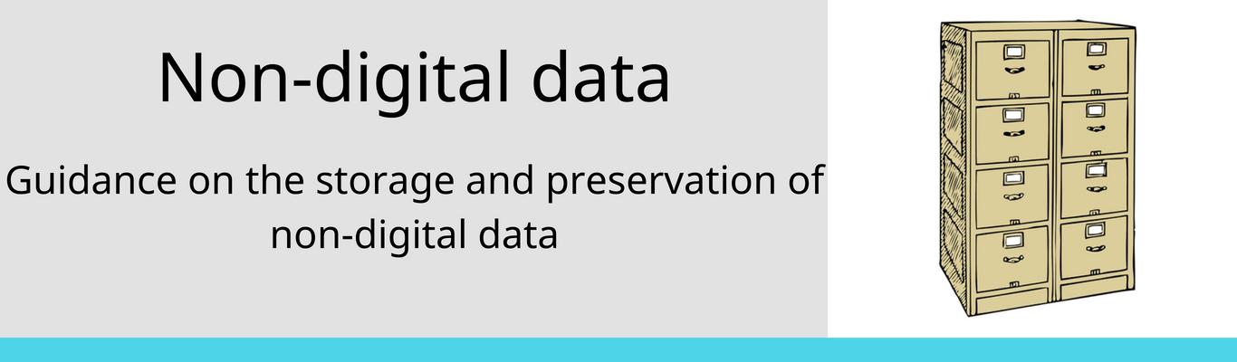 preservation of non-digital data
