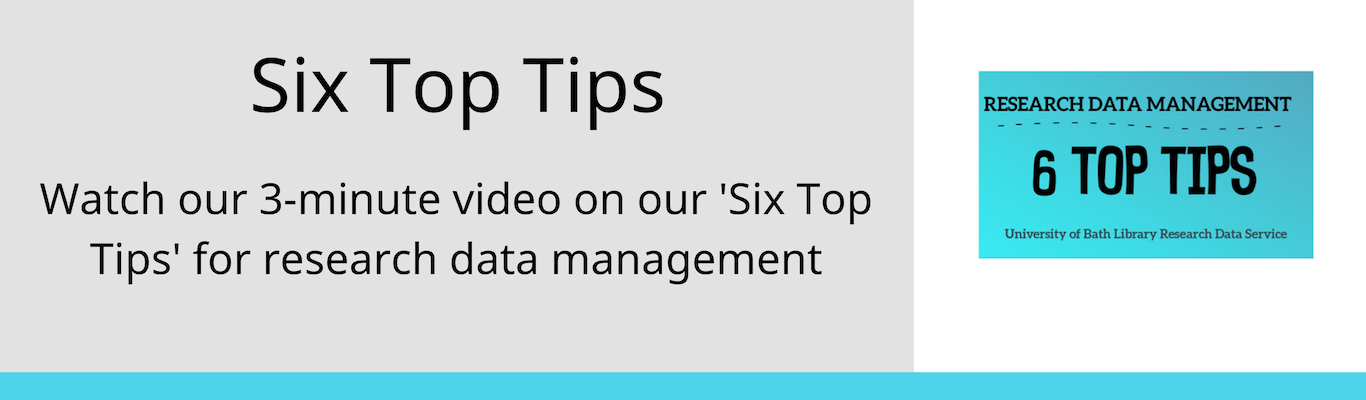 watch our six top tips on research data management video